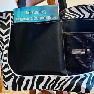 Zebra print carry-all bag